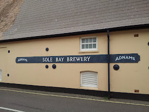Photo: Owen was pleased on this trip to make his way to the Adnams Sole Bay Brewery in Southwold.