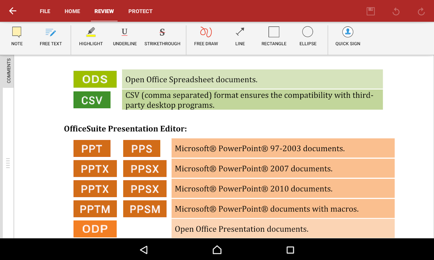 OfficeSuite 8 Pro (Trial)- screenshot