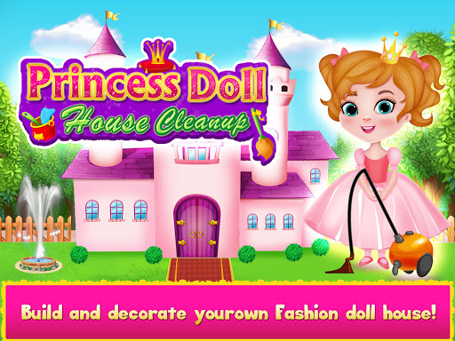 Princess Doll House Cleanup & Decoration Games 7.0 screenshots 1