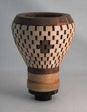 "Photo: Mike Twenty 7"" x 6"" open segmented vessel [maple, walnut]"