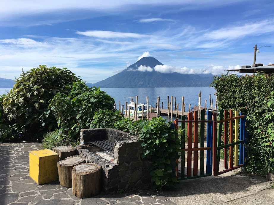Sad to say I can't seem to keep track of the volcanoes around Lake Atitlan. I want to say this one is San Pedro?