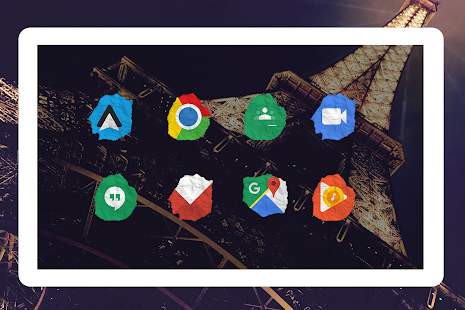 Icon Pack - Paper Shaped Original Icons Screenshot