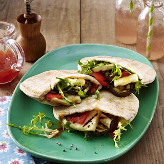 Halloumi and Spicy Grilled Vegetable Pita.