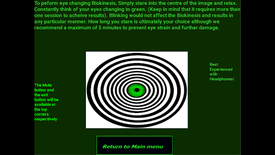 green eyes biokinesis android apps on google play. Black Bedroom Furniture Sets. Home Design Ideas