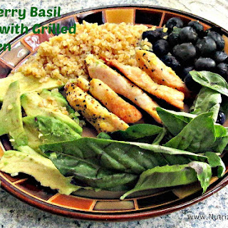 Blueberry Basil Salad with Grilled Chicken