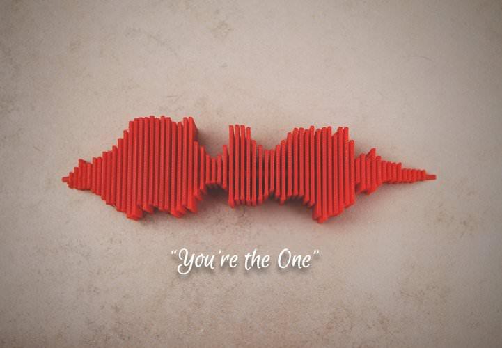"""3D модель """"Ты один"""" Sound Wave"""