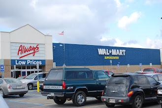 Photo: Arriving at Walmart!