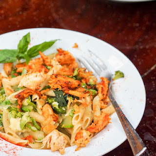 Creamy Chicken and Green Veggie Pasta {DF}