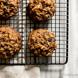 Teff Oatmeal Cookies with Whiskey Currants.