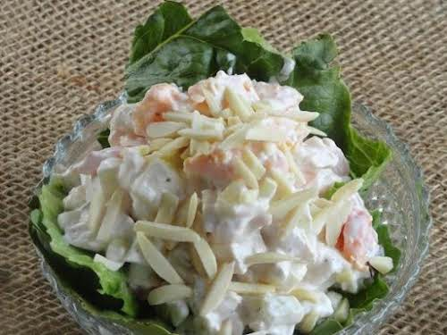 "Click Here for Recipe: Chicken Salad with Fresh Peaches ""Wow! I never..."