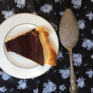 Donna Hay easy chocolate and caramel tart for dessert.