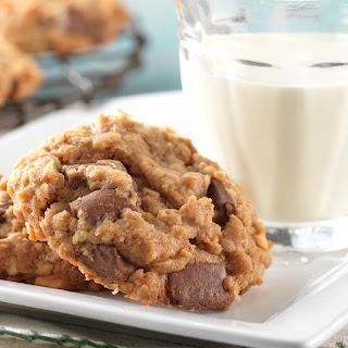 Milk Chocolate Chunk Peanut Butter-Oatmeal Cookies