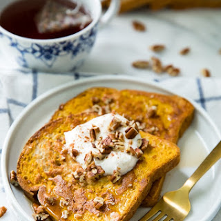Skinny Single Serving Pumpkin French Toast.