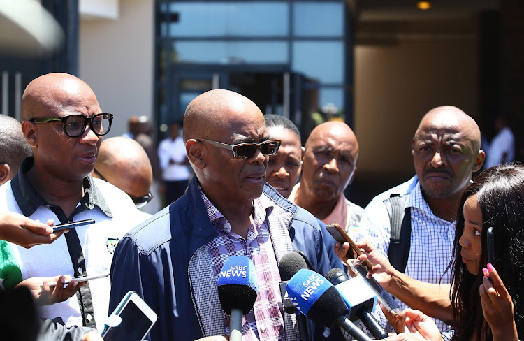 ANC secretary General, Ace Magashule addresses the media on the sidelines of the special NEC meeting held in East London ahead of the ANC 106 birthday celebrations.