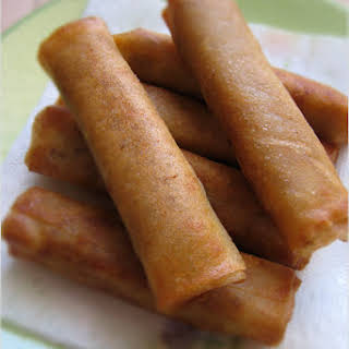 Lumpiang Shanghai (Filipino Spring Rolls filled with Pork).