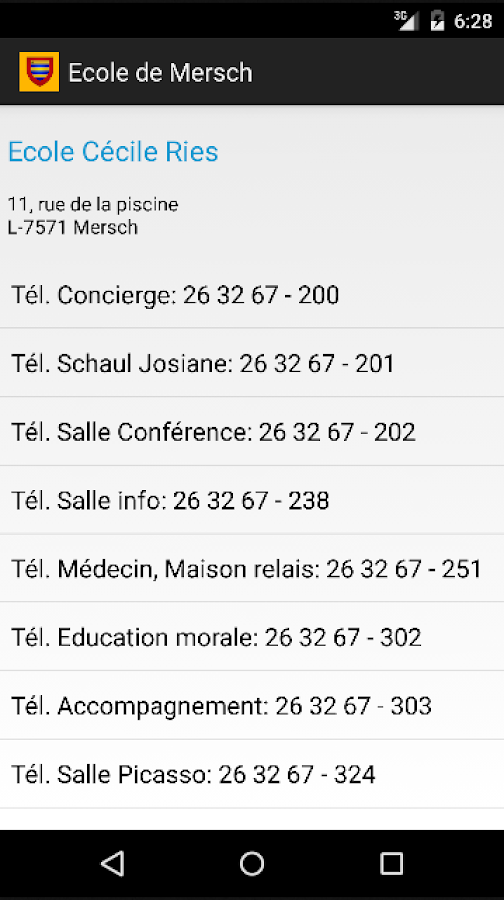 Ecole de Mersch- screenshot