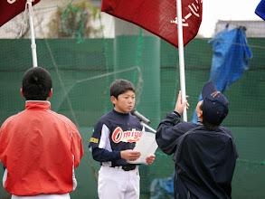 Photo: 『大宮西リーグ代表選手の言葉』を担当した キャプテン哉太君!