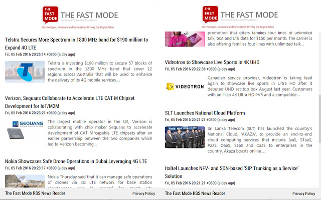 The Fast Mode RSS Reader