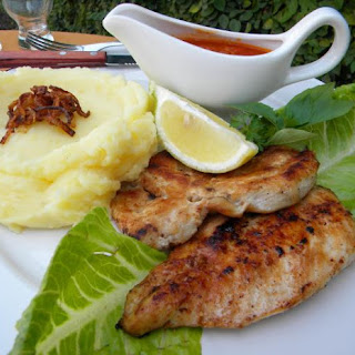 Boneless Chicken Breasts Marinated in Oil and Milk