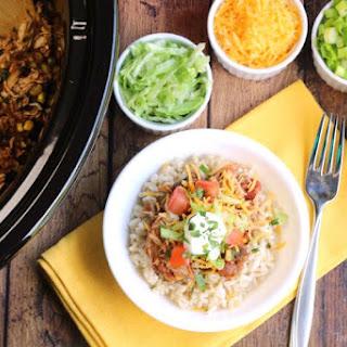 Crock Pot Chicken Burrito Bowl