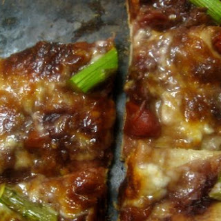 Asparagus and Red Wine & Tomato Reduction Flatbread