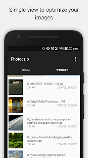 Photoczip - compress resize Screenshot