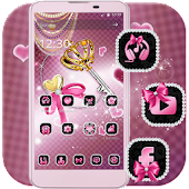 Theme Pink Bow Diamond