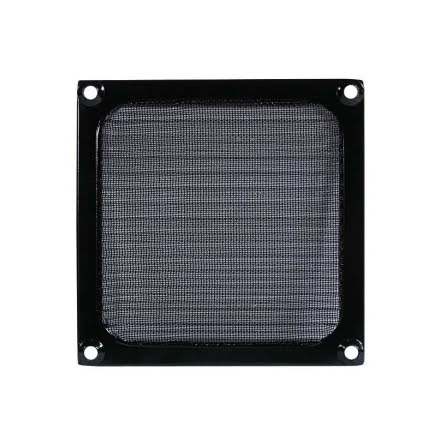 Viftegrill med filter, 140 mm, sort