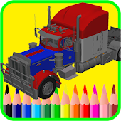 Coloring Lego Truck Game