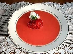 Chilled Strawberry Yogurt Soup