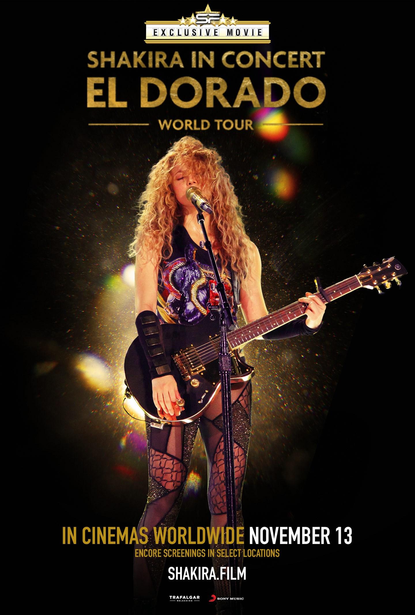 ผลการค้นหารูปภาพสำหรับ Shakira In  Concert : El Dorado World Tour SF Cinema