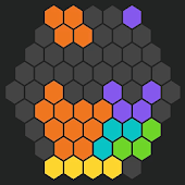 Fill in the hex-sided block