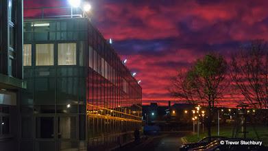 Photo: Aberdeen Sunset; Fraser Noble Building, University of Aberdeen