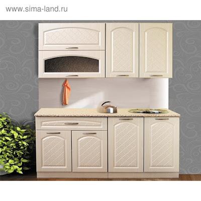 Кухонный гарнитур «Венеция», 1600 × 600 цвет ясень жемчуг