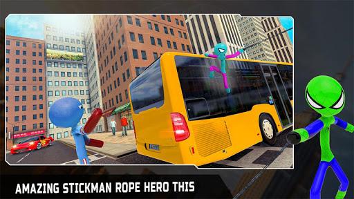 Flying Stickman Rope Hero Grand City Crime 2.0 screenshots 1