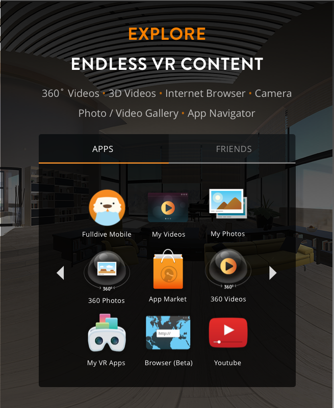 fulldive vr virtual reality android apps on google play. Black Bedroom Furniture Sets. Home Design Ideas