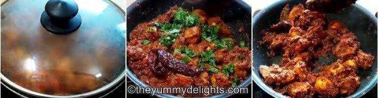 Kolhapuri sukka chicken is ready to serve