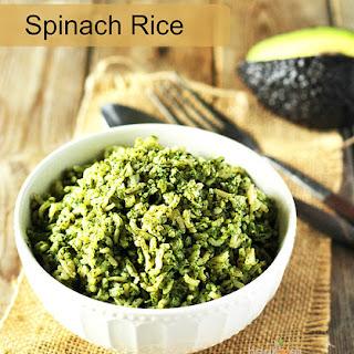 Spinach Rice (Gluten Free).