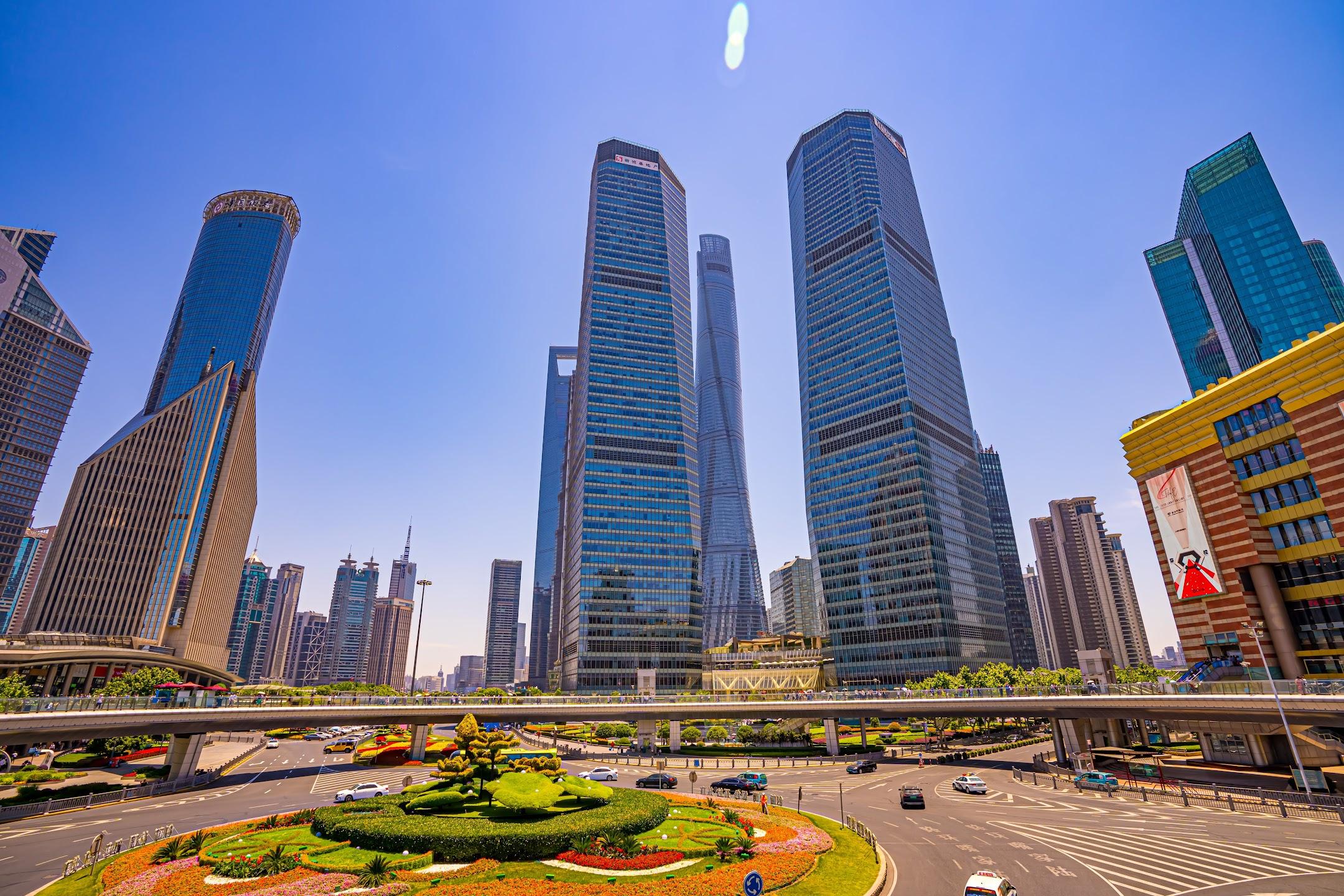 上海 陸家嘴 陸橋1