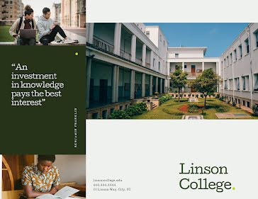Linson College - Trifold Brochure template
