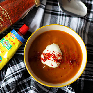 Harissa Carrot Soup.