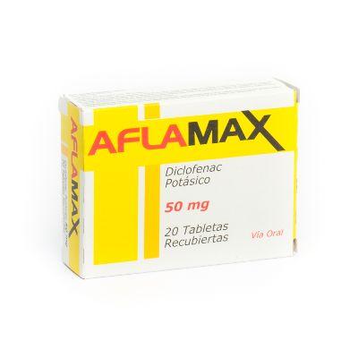Diclofenac Potásico Aflamax 50 mg x 20 Tabletas