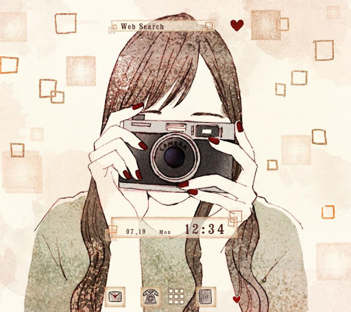 Wallpaper Camera Girl Theme 1.0.0 Windows u7528 1