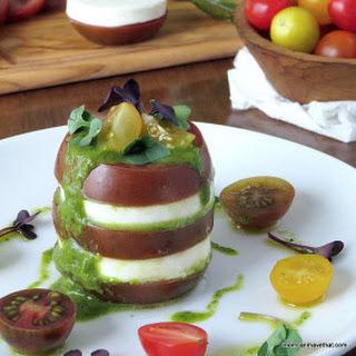Kumato Tomato Mozzarella Stack.
