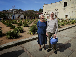 Photo: where we ran into a Cleveland friend who winters in Oaxaca.