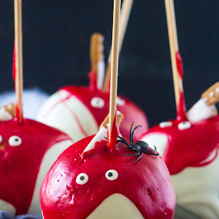 BLOODY CHOCOLATE DIPPED APPLES.