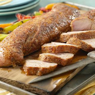 Maple Pork on a Maple Plank.