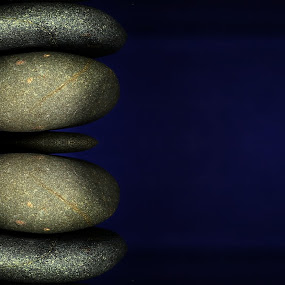 Balance by Dipali S - Nature Up Close Rock & Stone ( balance, relax, blue background, zen, alternative, stones, health, medicine, business, color, colors, landscape, portrait, object, filter forge,  )