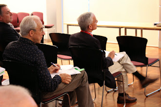 Photo: L-R: Professors Russell Gruen, Frank Rosenfeldt and Jonathan Serpell (adjudicating) in the audience. Adjudicators were David McGiffen, Peter Hwang, Russell Gruen and Jonathan Serpell.