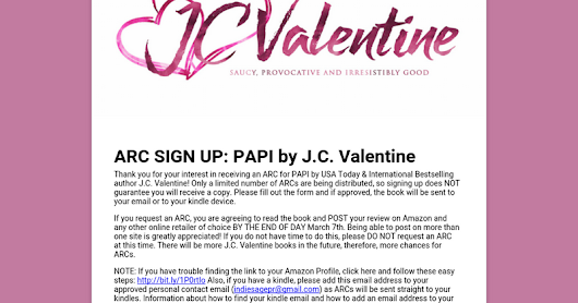 ARC SIGN UP: PAPI by J.C. Valentine